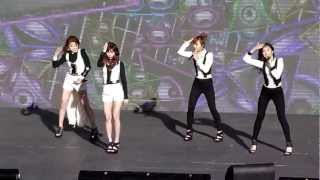 4minute ~ HOT ISSUE ~ [REHEARSAL] SBS KPOP SUPER CONCERT 121110