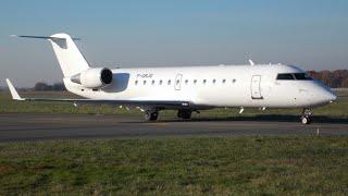 Canadair CL-600-2B19 Regional Jet CRJ-100ER HOP! (Air France) F-GRJG - Décollage de RNS le 08/12/13