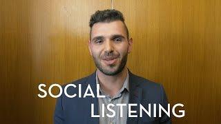 Social Listening - Elevator Pitch