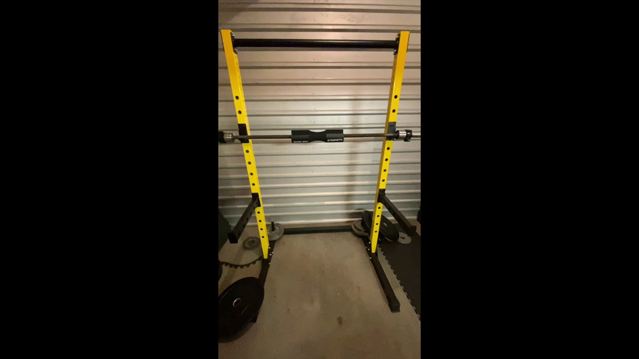 the hulkfit half rack squat stand