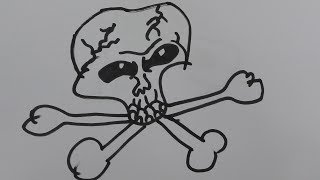 How to draw a skull easy step by step-draw a skull on fire-draw a realistic skull
