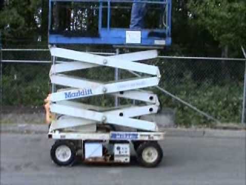 sold marklift m15ep electric 15 ft scissor lift manual extension rh youtube com