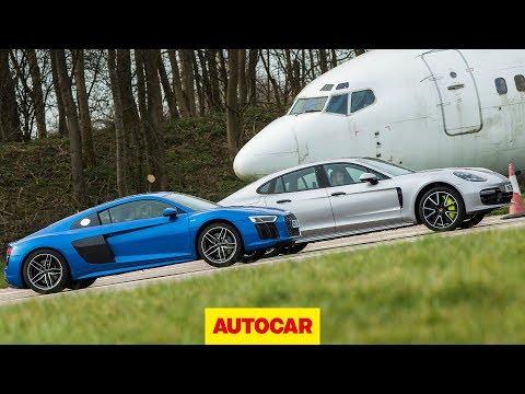 Drag race: Audi R8 vs Porsche Panamera Turbo S E-Hybrid | Autocar