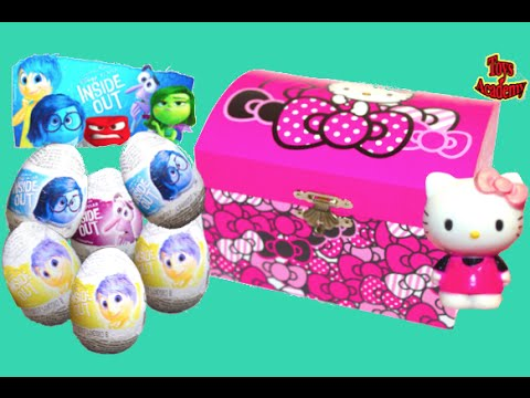 Hello Kitty Jewelry Box with Inside Out Surprise Eggs | Toys Academy
