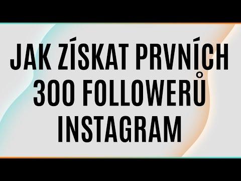 Jak získat první FOLLOWERY na Instagramu - Začátek