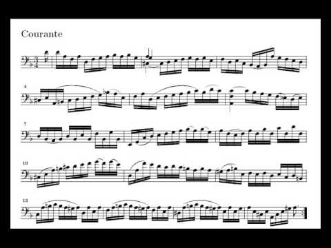 J. S. Bach Cello Suite n. 2 BWV 1008 - 3. Courante - Piano Transcription [tbpt4]