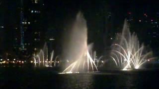 Dubai Mall Dancing Water Musical Fountain-Burj Khalifa.(Anvartrikaripur)mp4