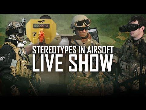 Airsoft Stereotypes (Speedsofter, Milsimer, Sniper & More) Live Show! w/ Bob & Bill! | AirsoftGI.com