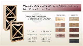 Compare Wine Rack Diamond Cubes