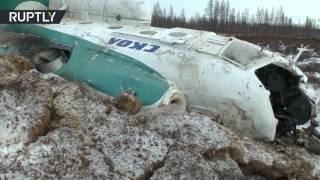 Видео с места крушения вертолета Ми-8 с нефтяниками на Ямале(В результате крушения вертолета Ми-8 в Пуровском районе Ямала погибли 19 человек, трое пострадали. Компания..., 2016-10-22T11:28:02.000Z)