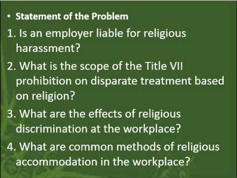 effects of religious discrimination essay Read this essay on essay on racism and religious discrimination in society come browse our large digital warehouse of free sample essays get the knowledge you need in order to pass your.