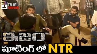 Jr NTR Spotted at ISM Movie Shooting. ISM Telugu movie making video...