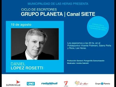 Seguí en vivo la charla de Daniel López Rosetti