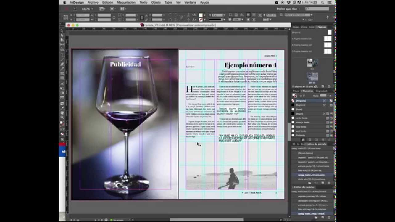 Plantilla Revista Indesign. Revista de arte - YouTube