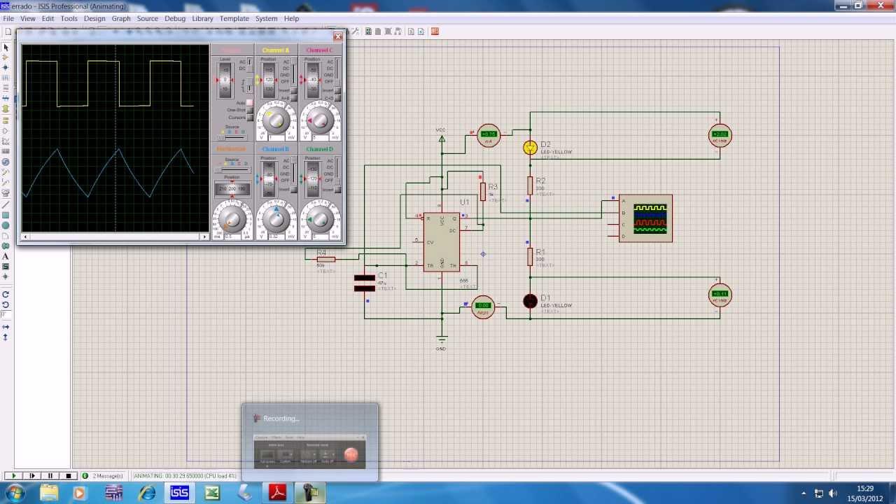 Circuito Oscilador 555 : Oscilador youtube