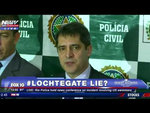 FULL PRESS CONFERENCE: Police Say Ryan Lochte And Other Swimmers Are Liars In Rio - FNN