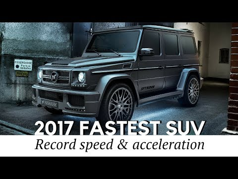 Top 10 FASTEST SUV in the World of 2017-2018 (Top Speed & Acceleration Compared)