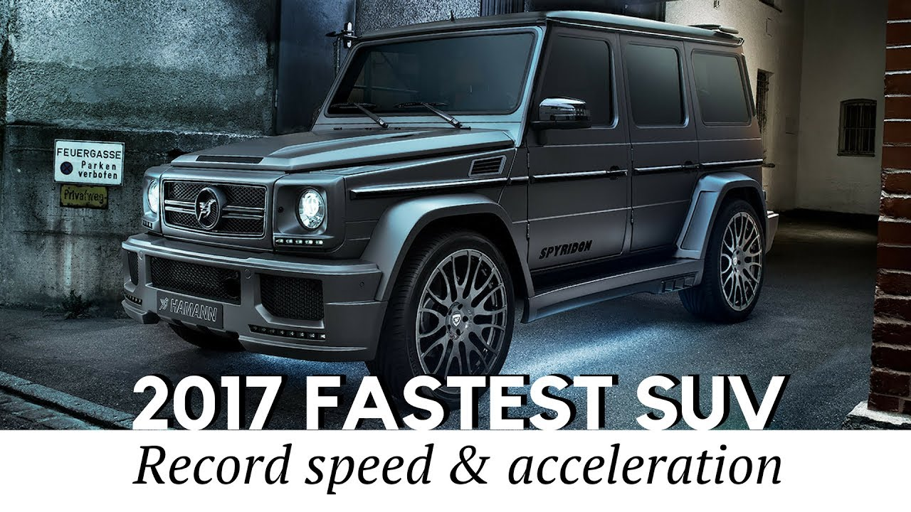 top 10 fastest suv in the world of 2017 2018 top speed acceleration compared youtube. Black Bedroom Furniture Sets. Home Design Ideas