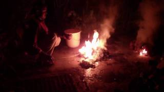 About 50 coconut shells were burnt to produce activated charcoal as...