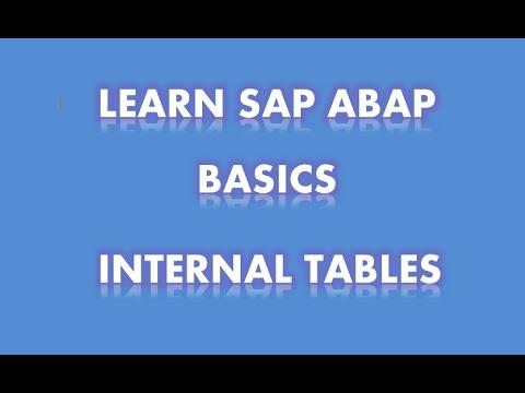 SAP ABAP - Internal Tables