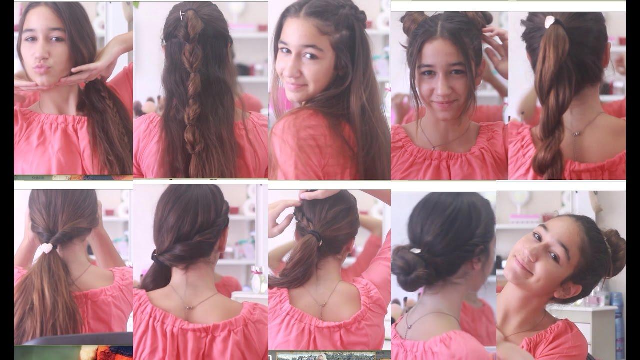 Okul için saç modelleri aşamalı