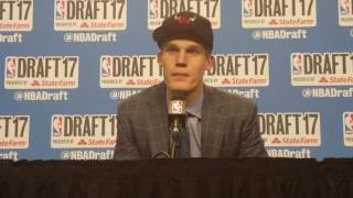 Lauri Markkanen on being traded for Jimmy Butler at 2017 NBA Draft