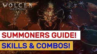 Wolcen   Upcoming Patch Summoners Build! Key Skills & Possible Combos!