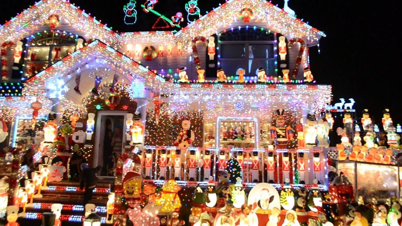 cool christmas house lighting. Cool Christmas House Lighting. Whitestone Family To Compete For Best Lights On Abc Lighting