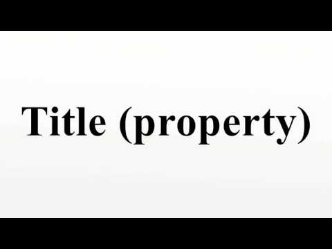 Title (property)