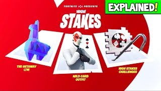 """FORTNITE *NEW* """"HIGH STAKES EVENT"""" GAMEPLAY EXPLAINED!? FREE ITEMS! GETAWAY LTM (Cops & Robbers)!"""