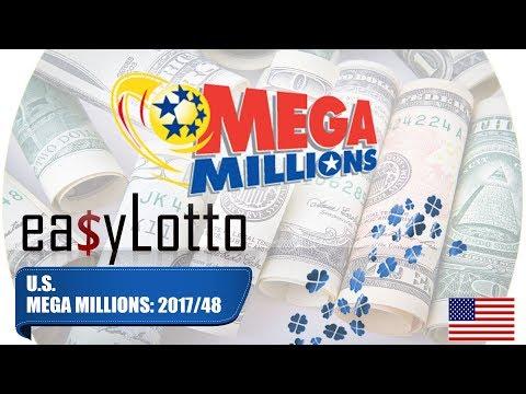 MEGA MILLIONS numbers 16 Jun 2017