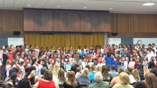 """Tangier Smith Elementary School Fourth Graders sing """"My Country"""