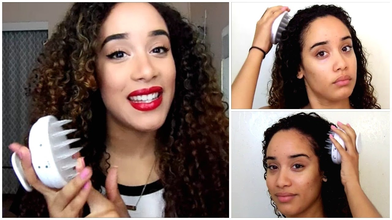 Review Vanity Planet Scalp Massager On Thick Curly Hair