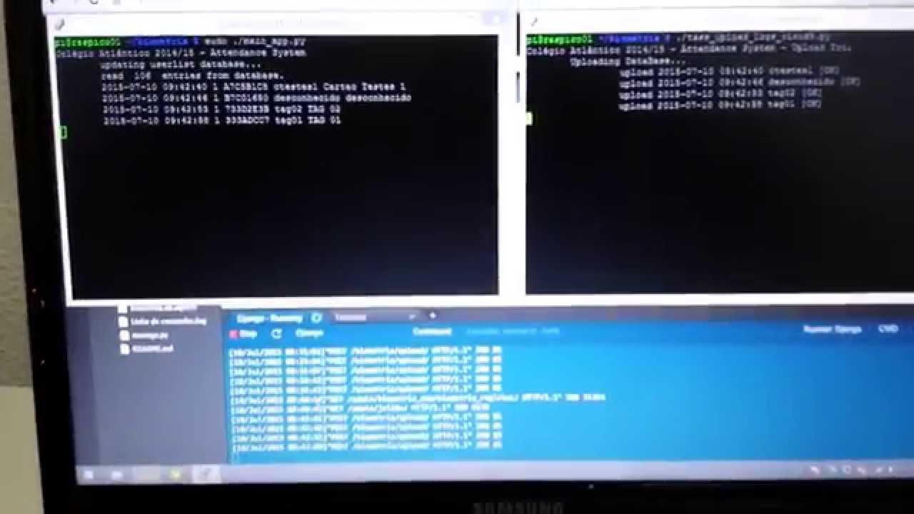 Attendance System with Raspberry Pi, Arduino, RFID sensor and 4x3 Keypad  membrane (part 05)