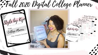 Inside Look || The Fall 2020 College Digital Planner ~ StylebyKye