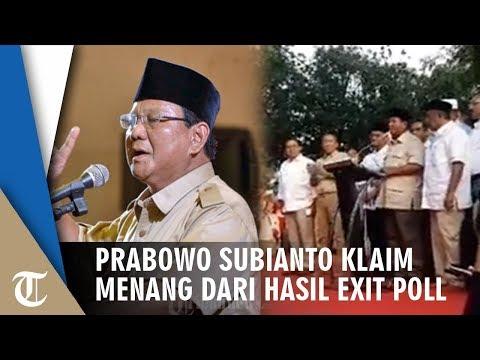 Prabowo Subianto Klaim Menang dari Hasil Exit Poll dan Quick Count