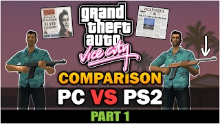GTA Vice City - PS2 VS PC [Part 1] [Comparison] [Remastered]