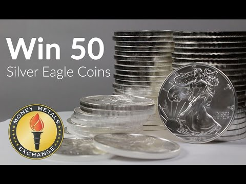 Win 50 American Silver Eagle Coins from Money Metals Exchange