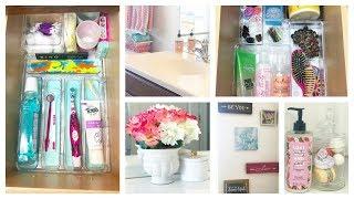 How I Organize & Decorate My Kids Bathroom using Dollar Tree Items!