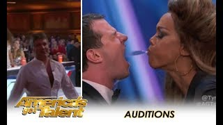 Human Fountains: Simon Cowell Booed Off Stage & Tyra Banks Saves The Day | America's Got Talent 2018