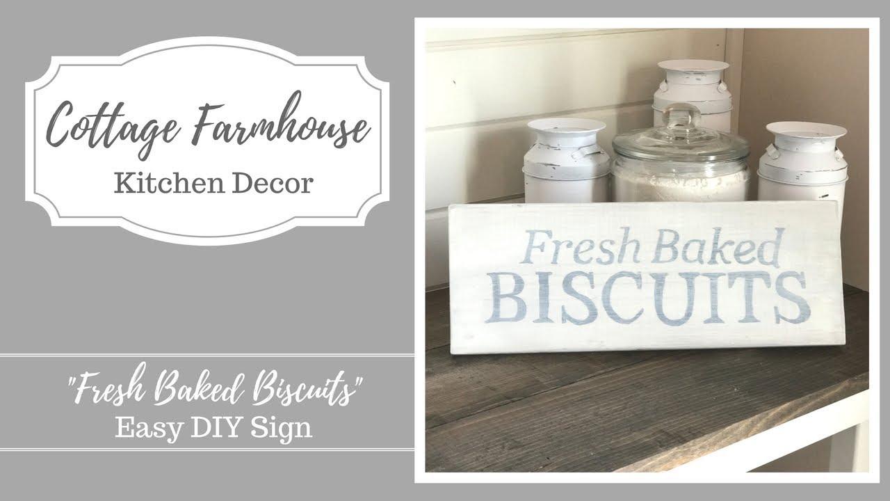 diy cottage decor. Cottage Farmhouse Decor  Easy DIY Sign YouTube