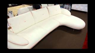 Modern White Leather Sectional Sofa with Adjustable Seats | (866)397-0933 LAFurnitureStore.com