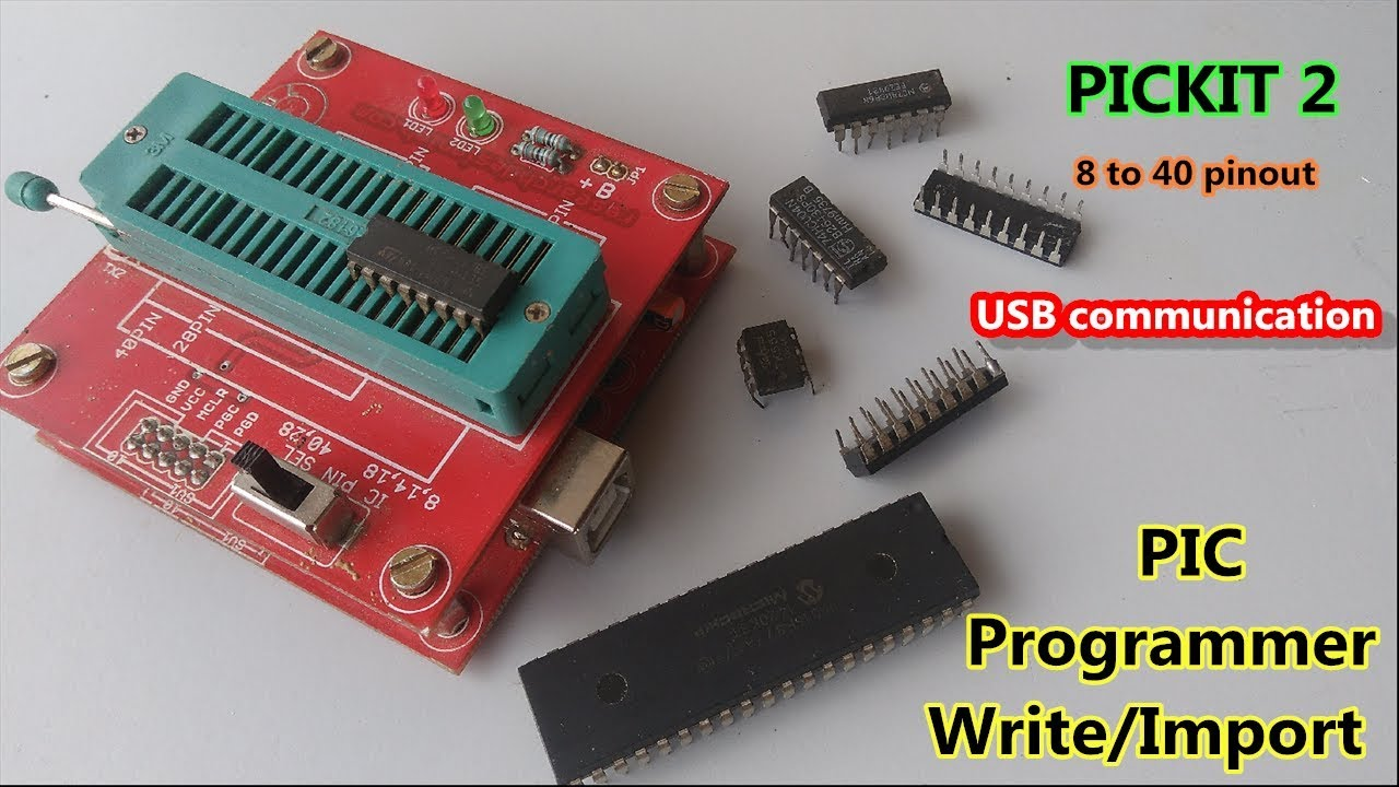 How to write and Import & Export Programming for PIC Microcontroller with  Pickit2