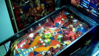 1992 Gottlieb Operation Thunder pinball machine gameplay