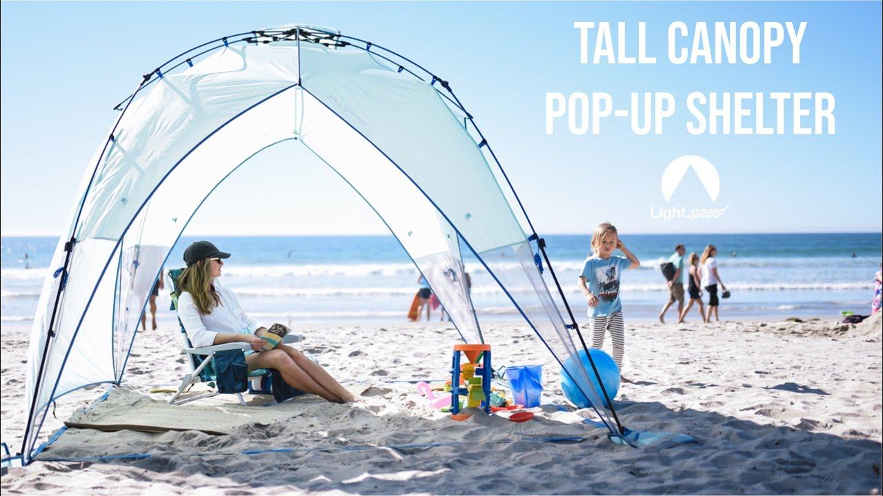 promo code e63de e8a71 Pop-Up Tall Canopy with Shade Wall from Lightspeed Outdoors | A lightweight  & beautiful sun shelter