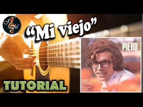 """Como tocar """"Mi viejo"""" de Piero en guitarra (Tutorial) - YouTube"""