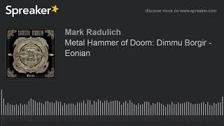 Metal Hammer of Doom: Dimmu Borgir - Eonian