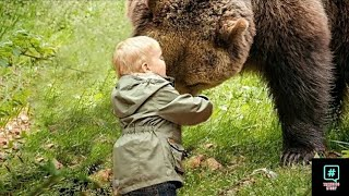 The baby approached the bear and hugged him a minute later something unthinkable happened