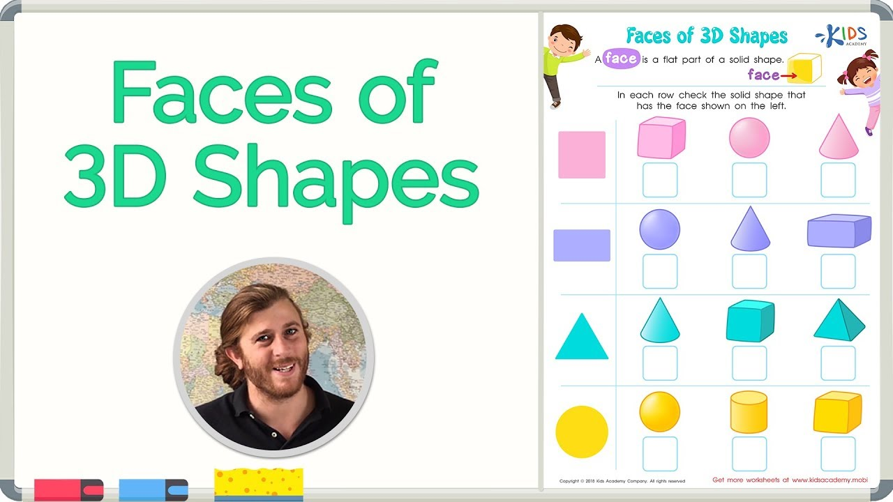 Faces of 3D Shapes   Geometry   Math for 2nd Grade   Kids Academy - YouTube [ 720 x 1280 Pixel ]