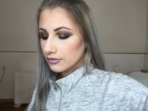 Eye Makeup tutorial- braon-crni smokey eye